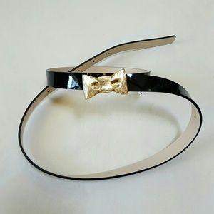 Kate Spade Patent Bow Belt
